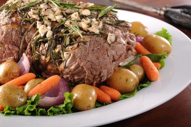 Rosemary Roasted Leg of Lamb