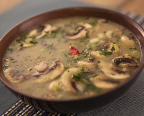 coconut lime chicken and crab soup